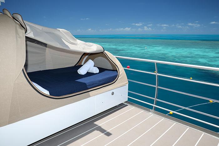 Sleep under the stars in these Reefsleep deck beds