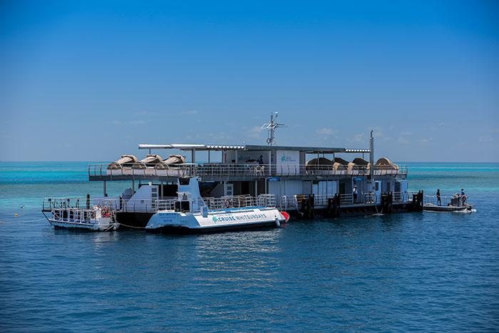 Australia's first underwater hotel: Reefsuites located on Reefworld Pontoon