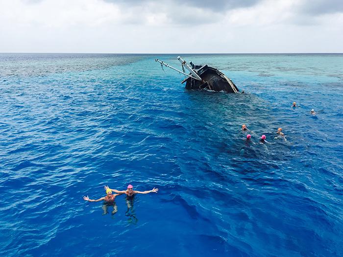 Shipwreck in the Maldives