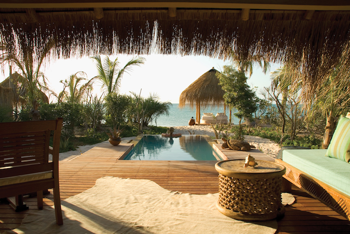 African Photo Safari:View of plunge pool from Beach Villa