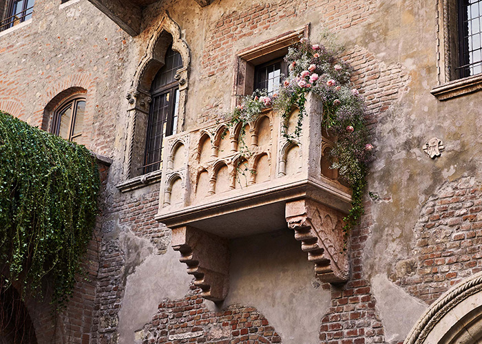 Airbnb Juliet's House, Verona Italy. Juliet's balcony. Image: Airbnb.