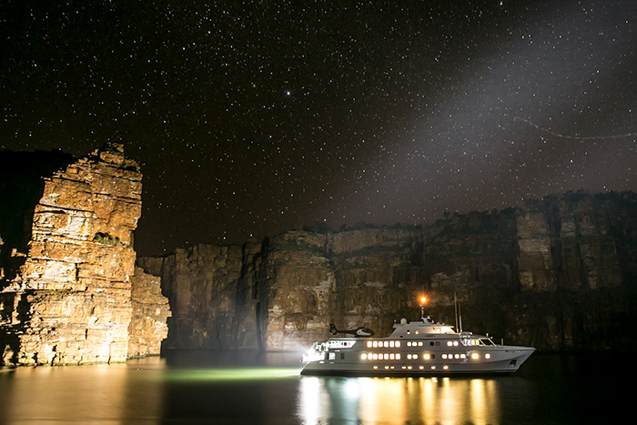 Stargazing aboard the True North.