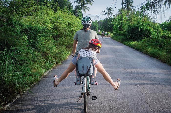 Family bike rides.