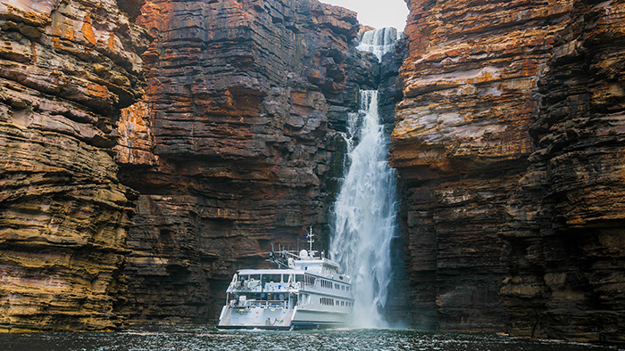 The Kimberley waterfalls explored by True North Adventure Cruises