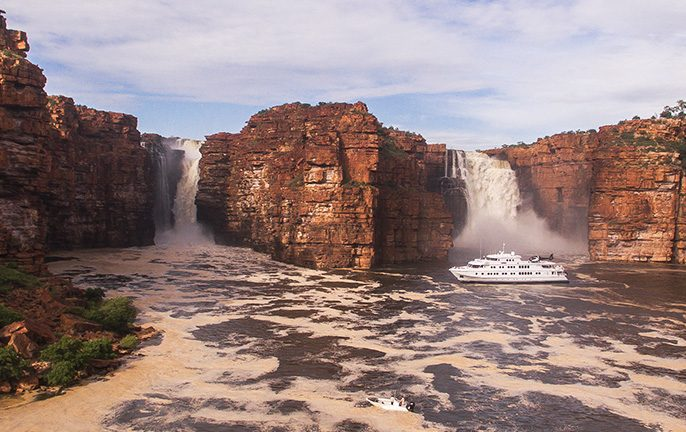 The Kimberley waterfalls explored by True North Adventure Cruises