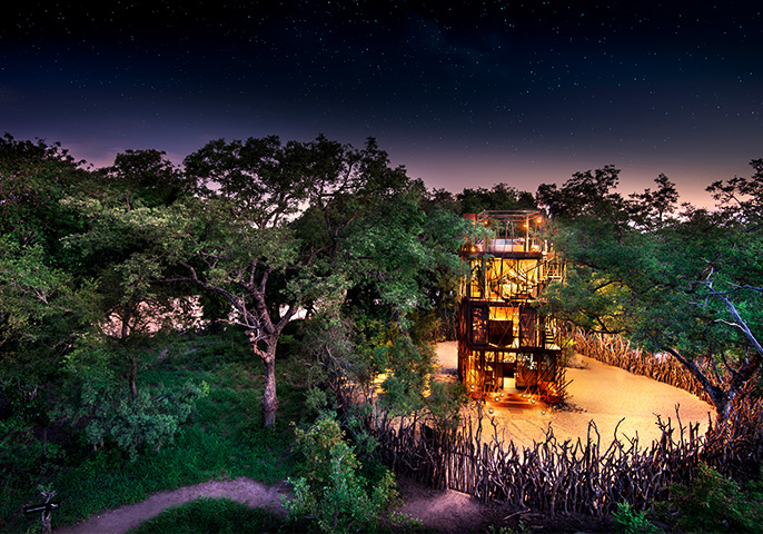 &Beyond Ngala Treehouse in South Africa