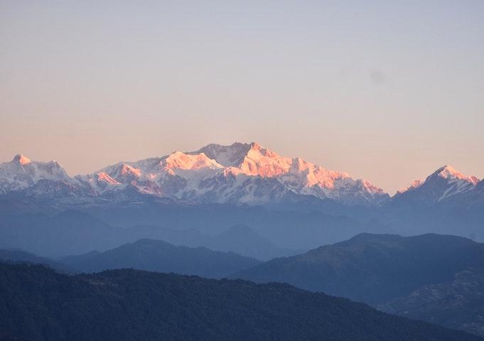 Himalayas visible in India