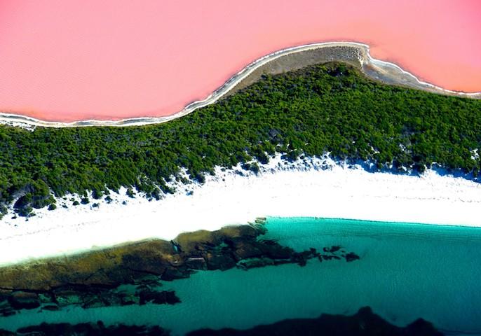Australia natural wonders: Australia's pink lakes