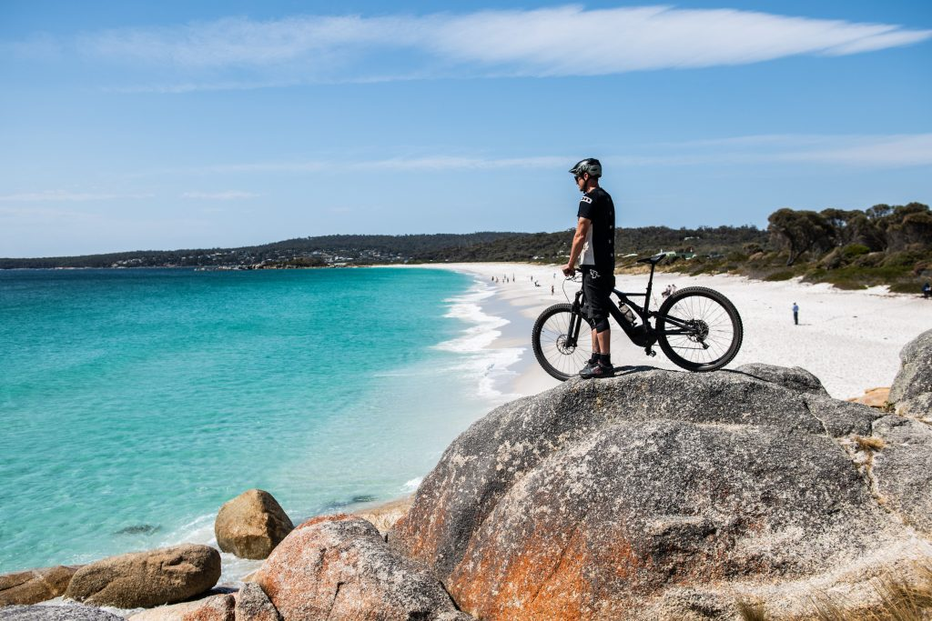 Tasmania bike trails. St Helens Mountain Bike Trails. Image: Stu Gibson