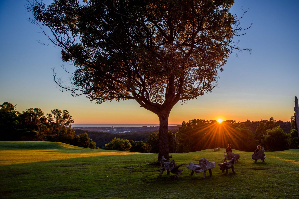 Gwinganna Lifestyle Retreat at sunrise. Image: Supplied