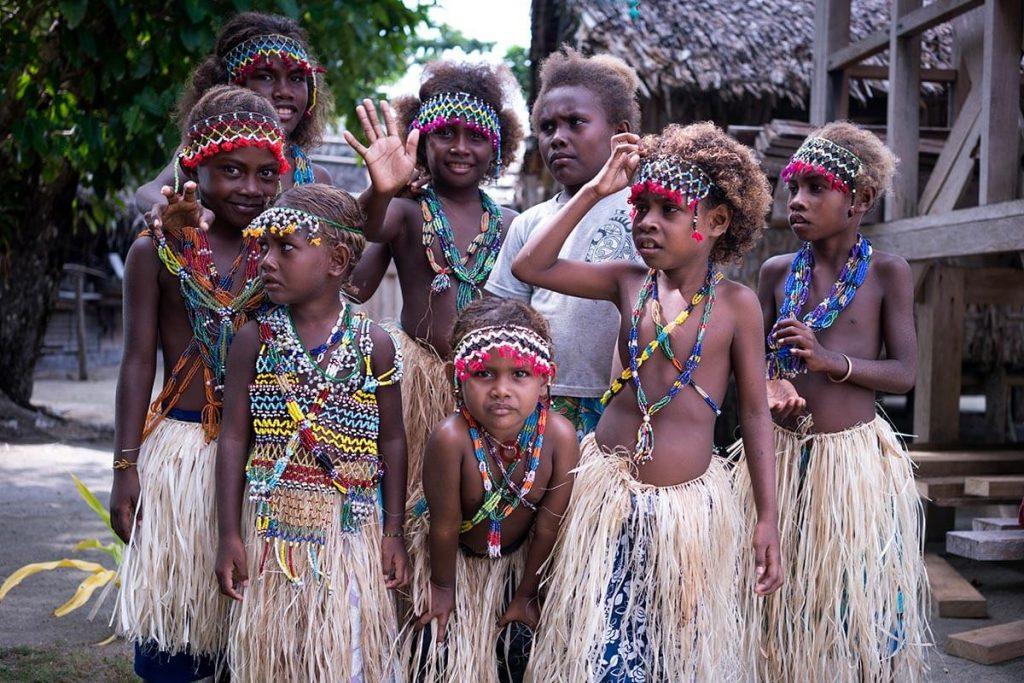 Kids in the Solomon Islands