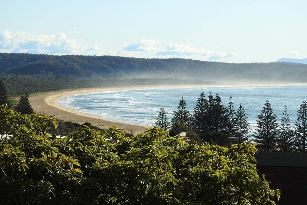 The view over Tathra Beach Dilkera Road