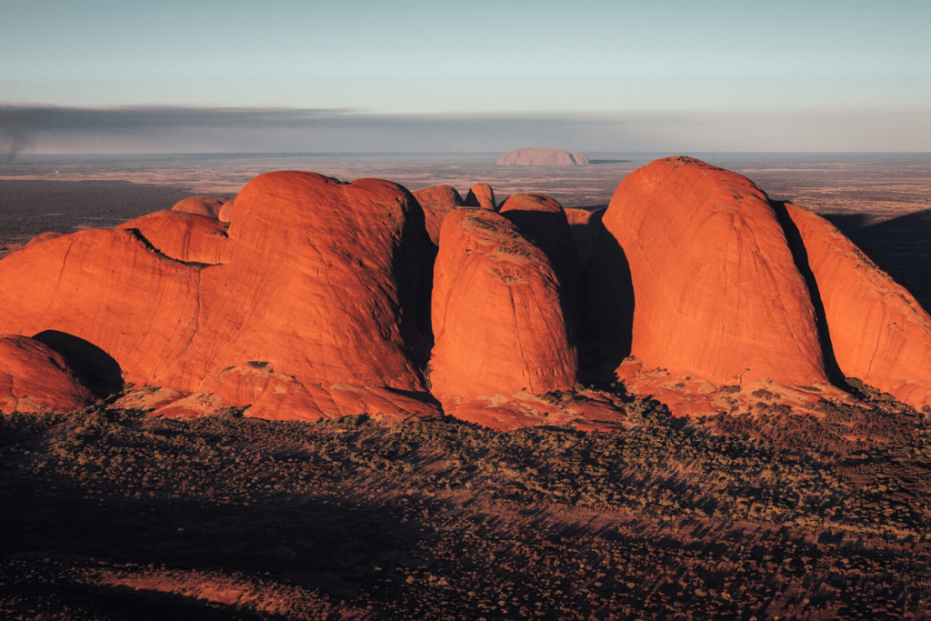 Northern Territory: Kata Tjuta at sunrise Image: Tourism NT/Jason Charles Hill