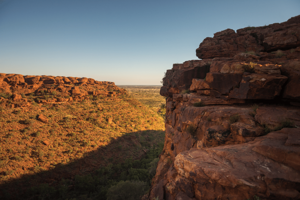 Northern Territory: Exploring Kings Canyon on the rim walk Image: Tourism NT/Matt Glastonbury