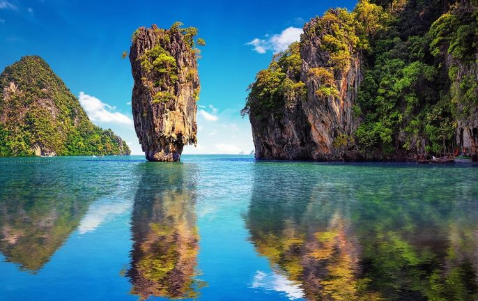 Island hopping on Thailand's Andaman Coast: Phi Phi Island James Bond Island, Thailand