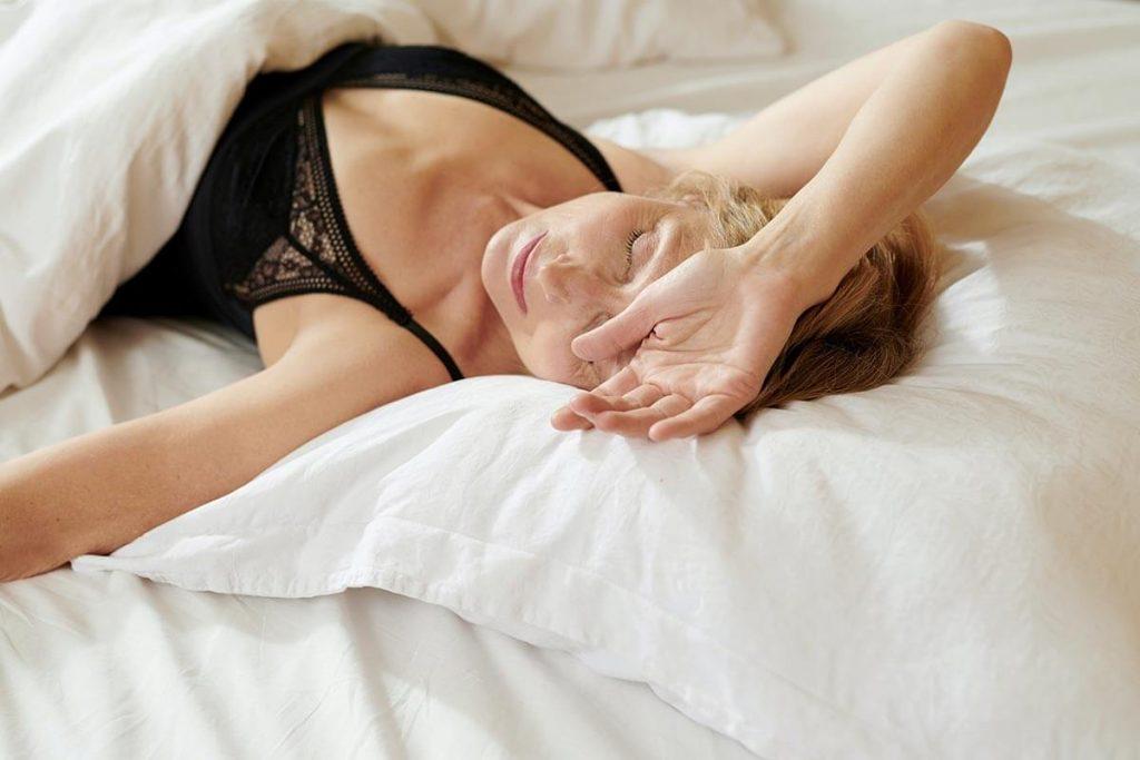 Sleeping in a hotel room