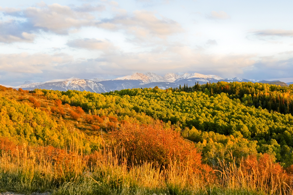 Colorado Fall; Sunset colours near Edwards © Matt Inden/Colorado.com
