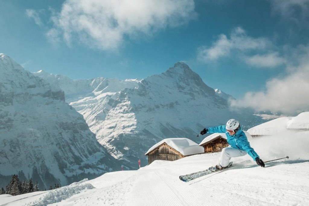 Skiing in Grindelwald, Switzerland