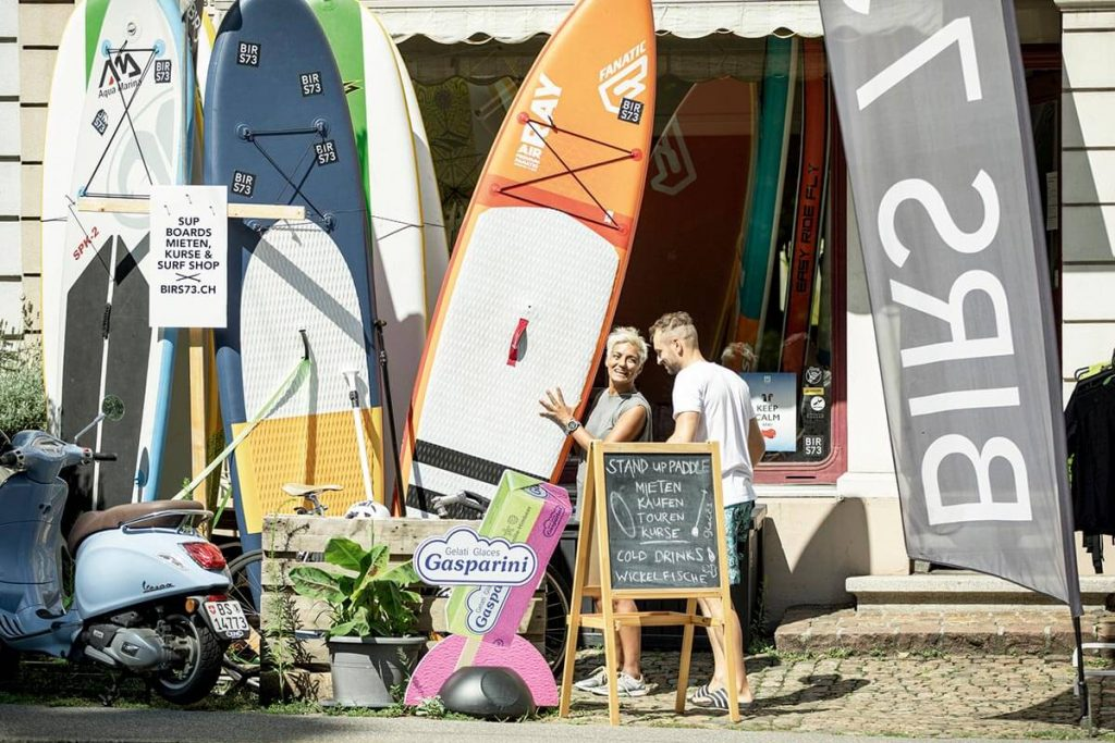 Stand Up Paddling Shop BIRS73 in Basel