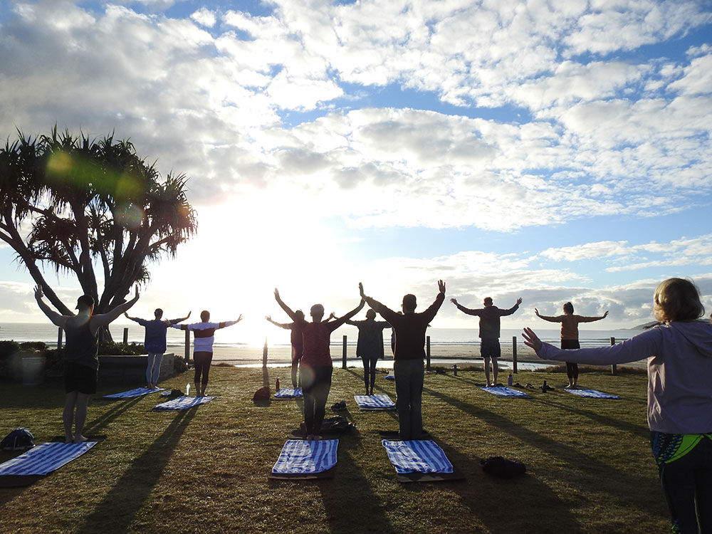 Elements of Byron, Byron Bay, sunrise yoga