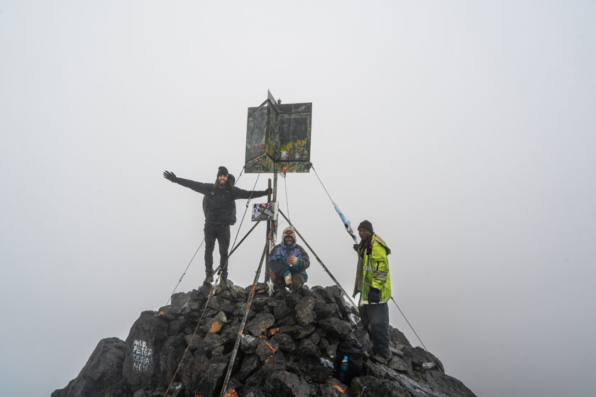 Mount Wilhelm summit, the highest mountain in Papua New Guinea