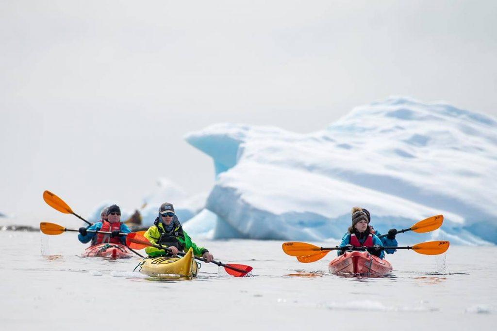 Canoeing in Wilhelmina Bay, Antarctica