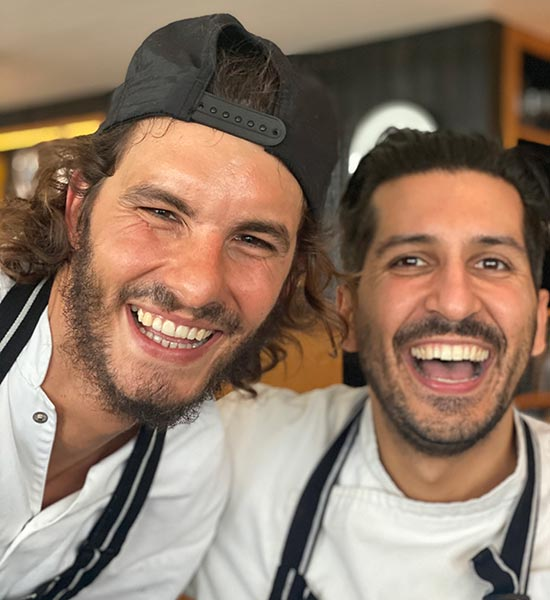 Sous chef Manuel Bellanti and Executive chef Alessio Rago
