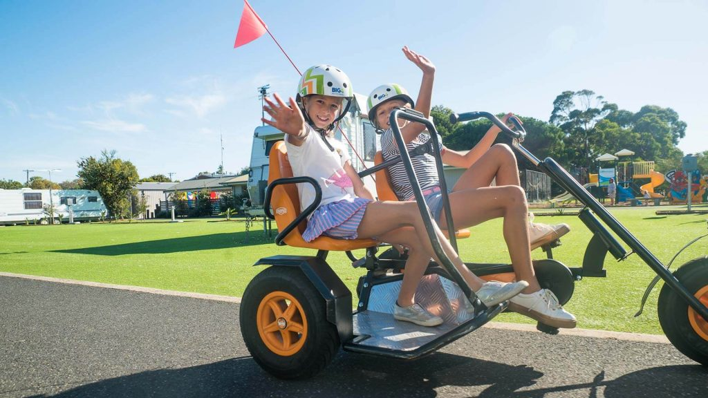 Go-karts at BIG4 Beacon Resort, Queenscliff