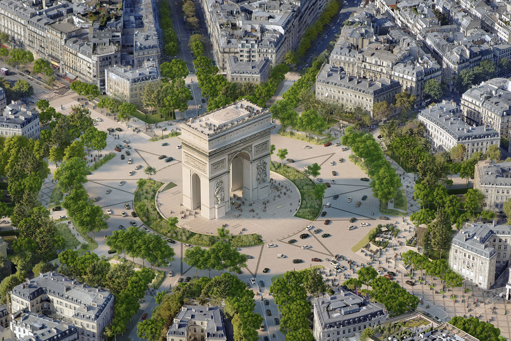 Proposed changes to the Champs-Élysées area © PCA-Stream