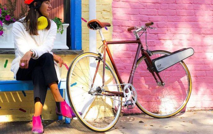 Clip e bike motor