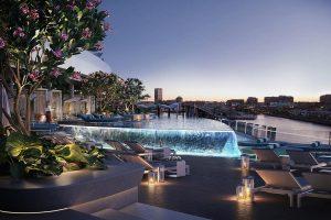 Crown Sydney Resort pool on level three