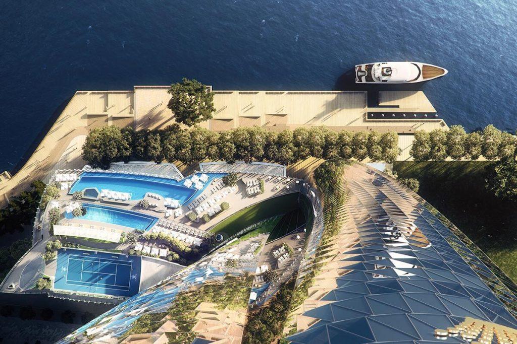 Crown Sydney aerial view