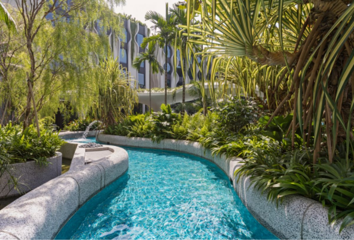 hotels with lazy rivers - village hotel singapore