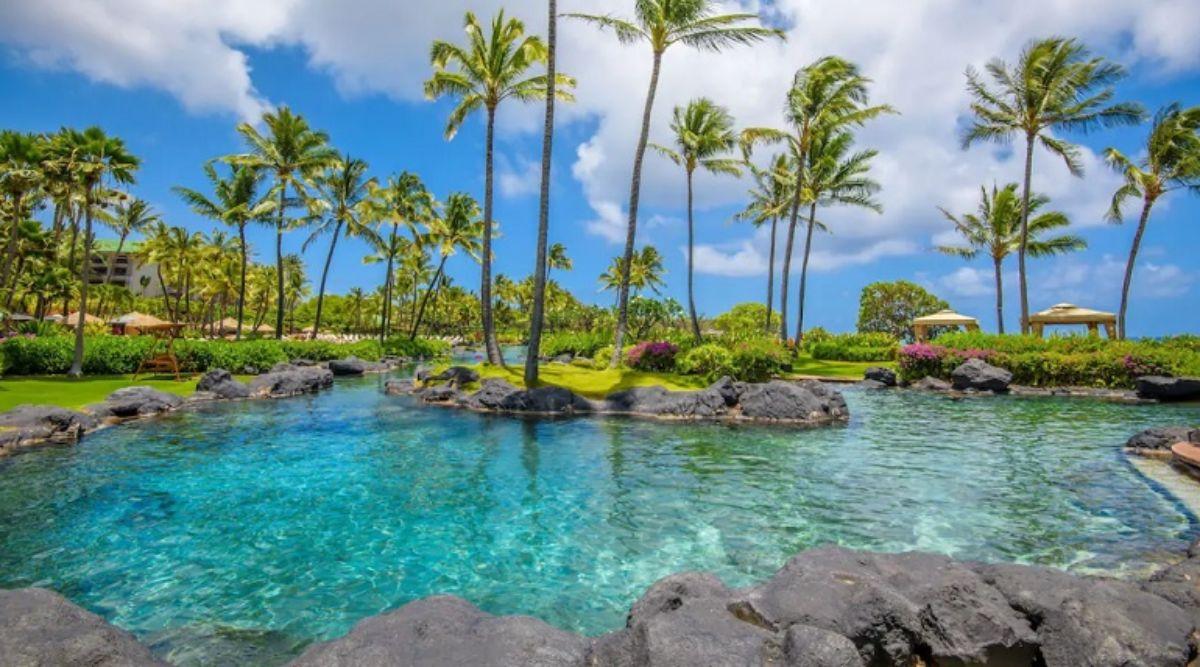hotels with lazy rivers - grand hyatt kauai