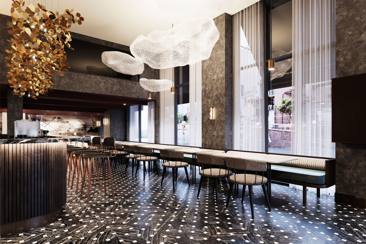 Aiden Darling Harbour hotel lobby
