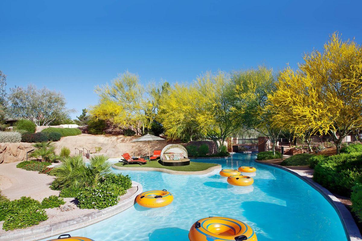 hotels with lazy rivers - westin kierland resort, arizona
