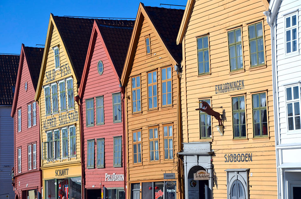 Attractions along the Norwegian coast: Bryggen Bergen, Norway © Supplied/Hurtigruten