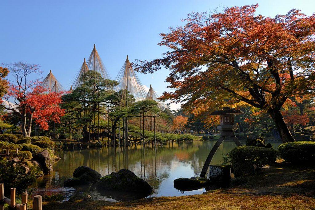 Kenrokuen Gardens in Autumn