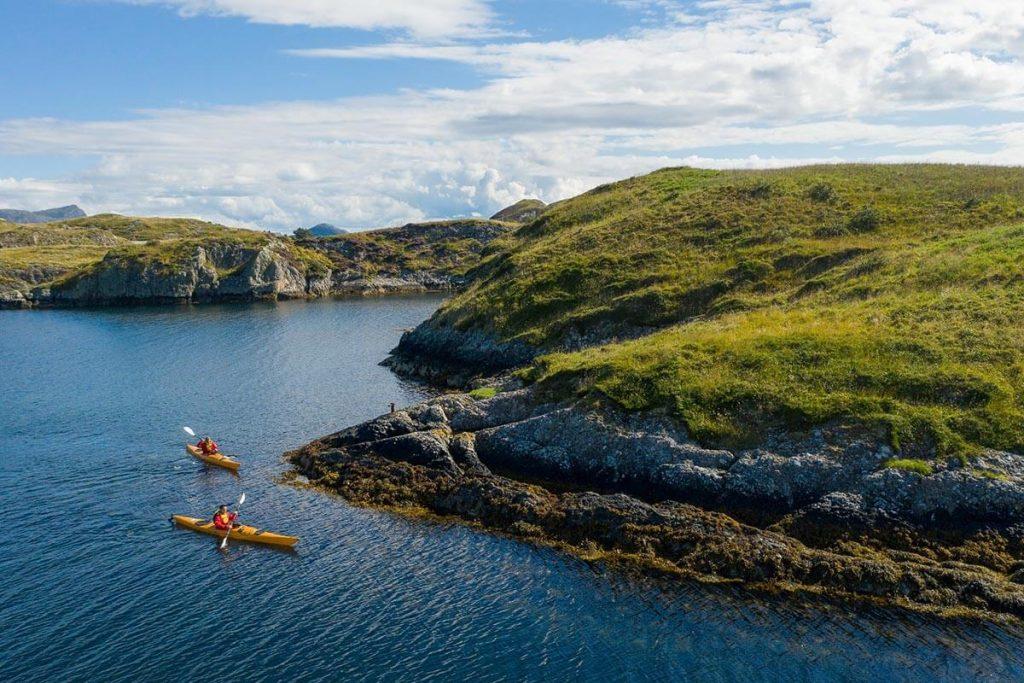 Kayaking in Bulandet, Norway
