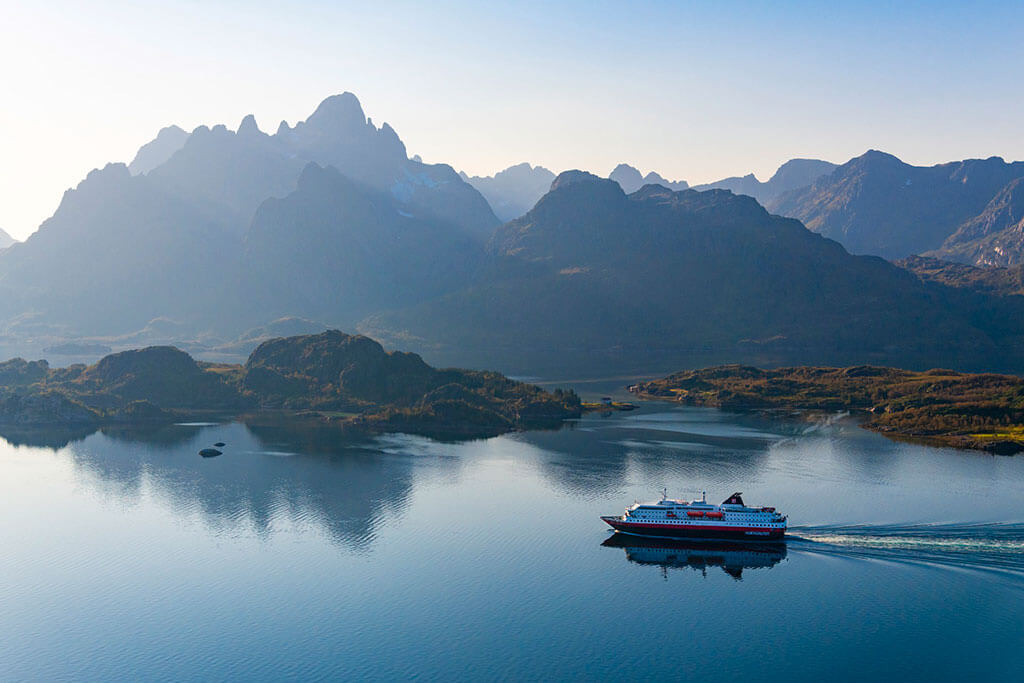 Attractions along the Norwegian coast: MS Kong Harald Raftsundet Norway © Stian Klo
