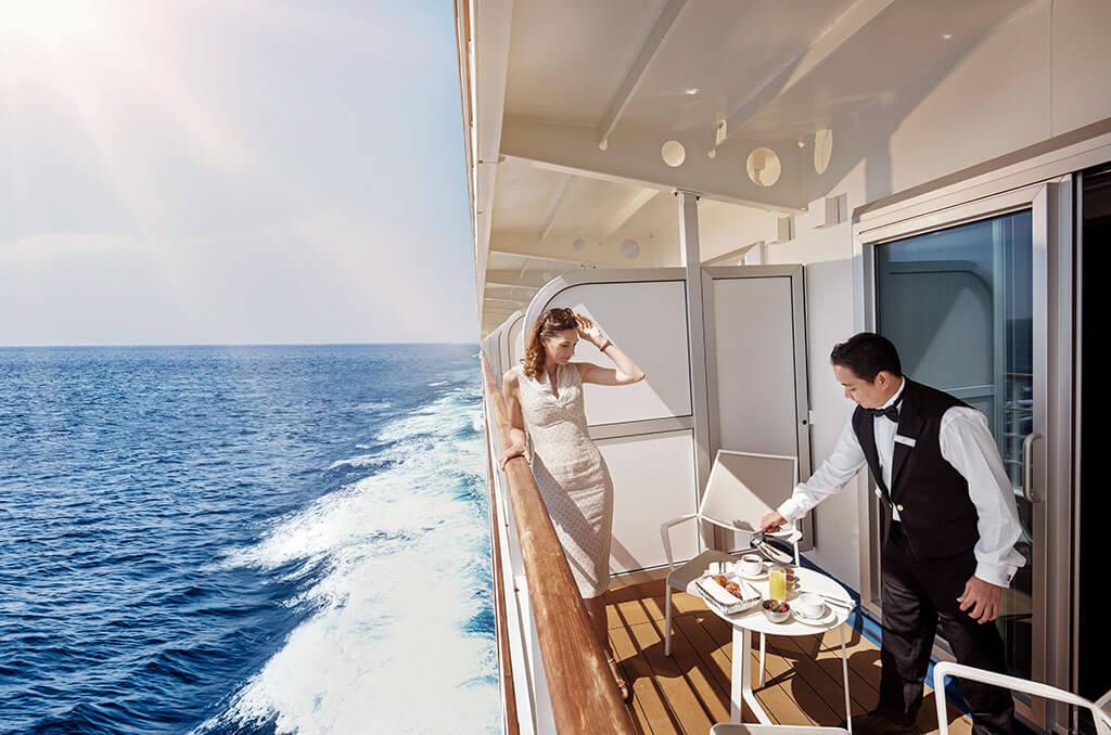 Silversea Sydney to Auckland cruise: Breakfast on suite veranda © Supplied/Silversea