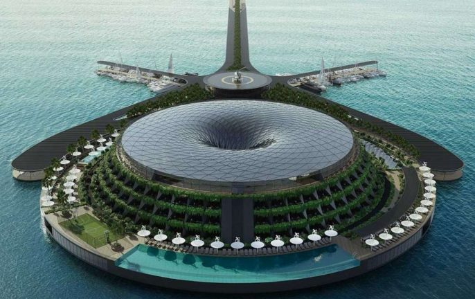 Qatar's Eco-Floating Hotel © HAADS
