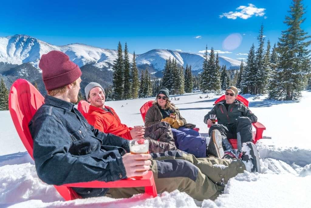 Sun chairs at Winter Park ski resort Colorado © Carl Frey
