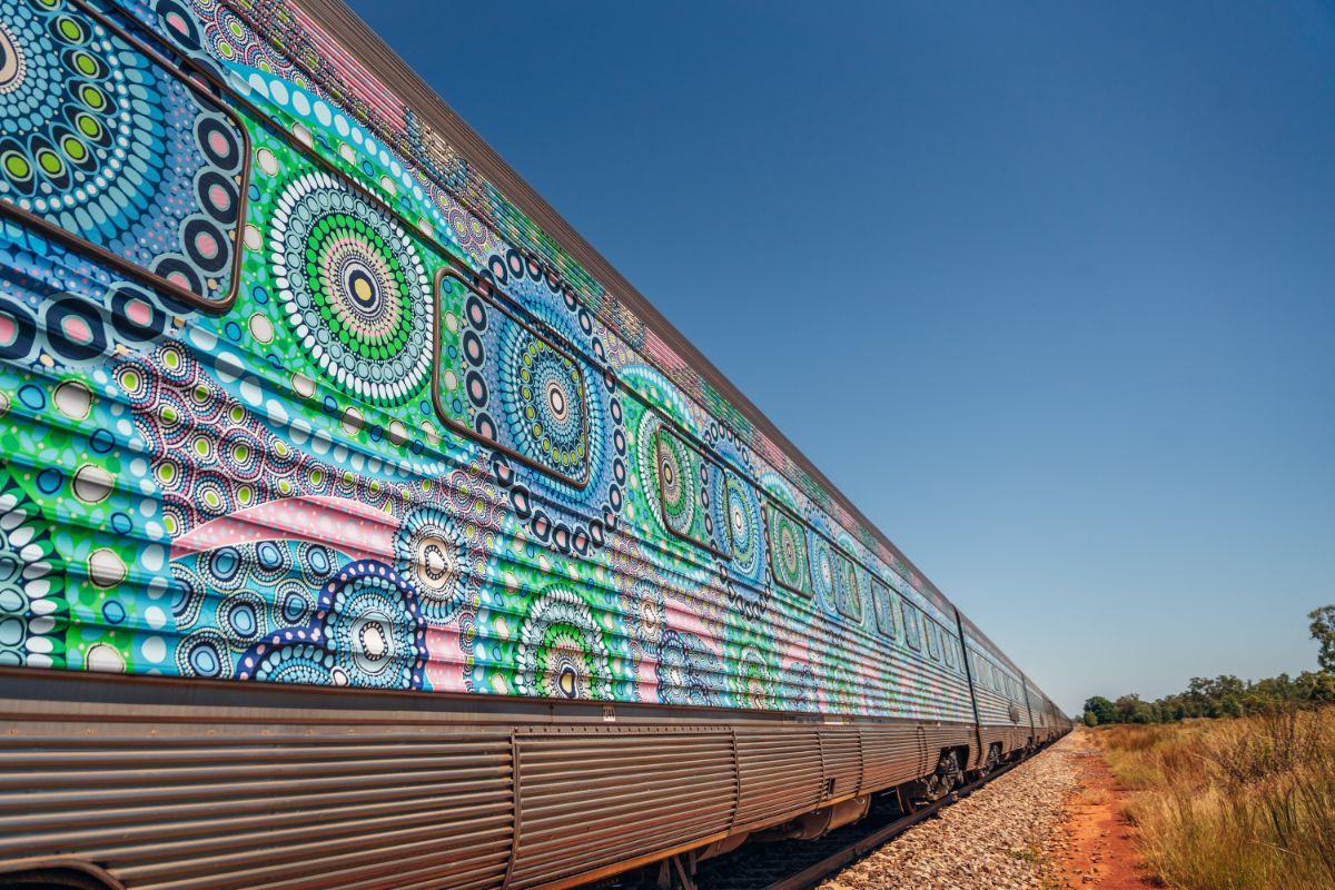 The Ghan Aboriginal art