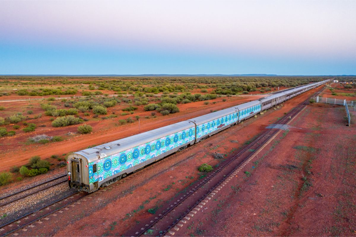 The Ghan Aboriginal art
