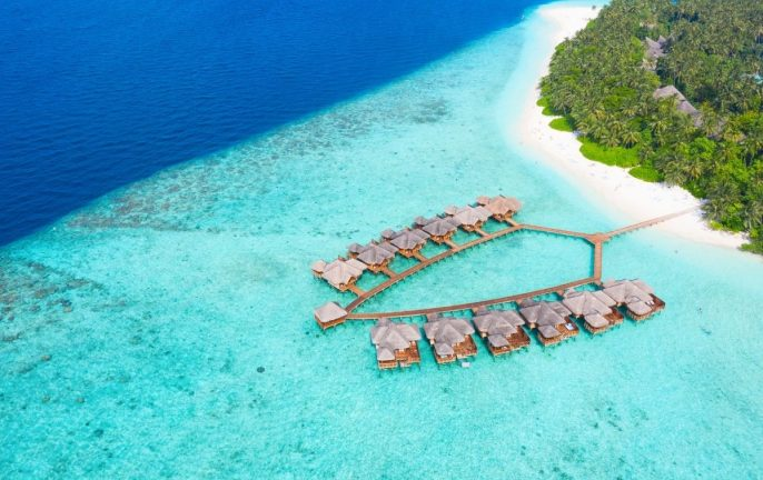 The Maldives overwater villas