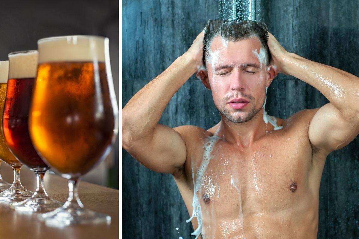 Beer shower Beer hotel