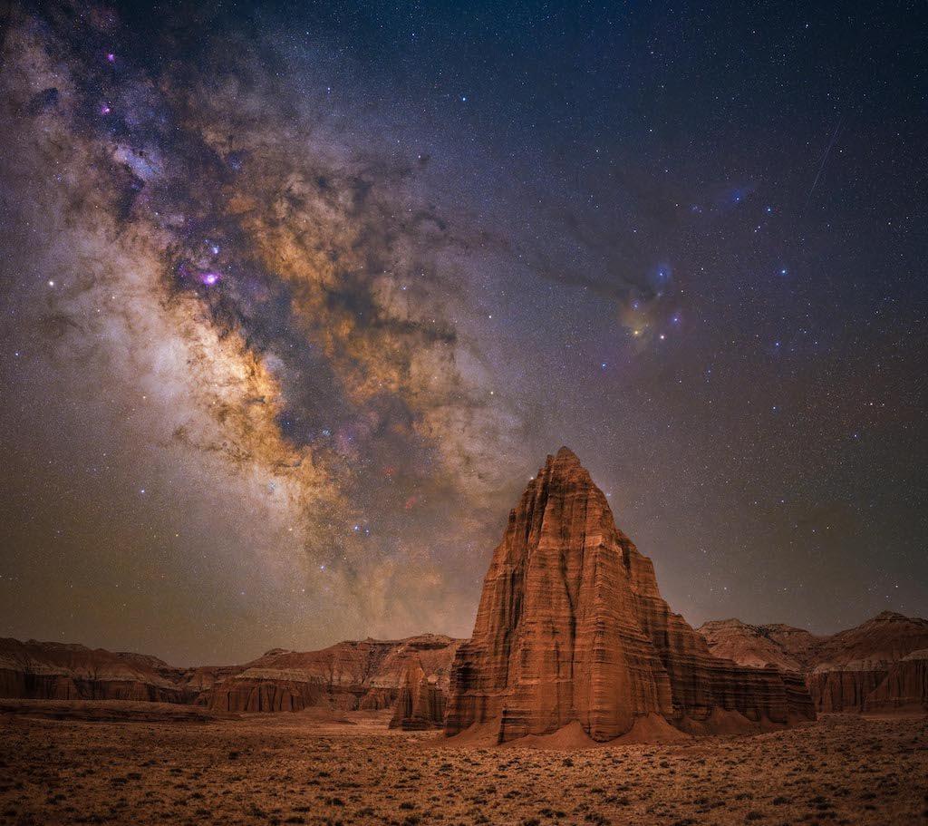 Fotógrafo de la Vía Láctea del año 2021: Templo del sol - Bryony Richards