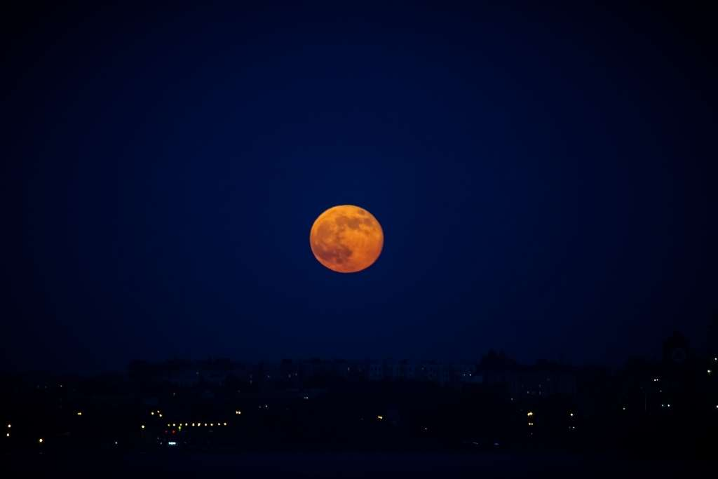 Supermoon and lunar eclipse
