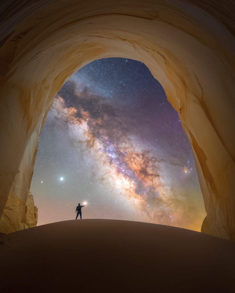 Fotógrafo de la Vía Láctea del año 2021: Cámara de luz - Spencer Welling